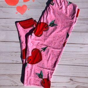 LuLaRoe OS Valentine leggings